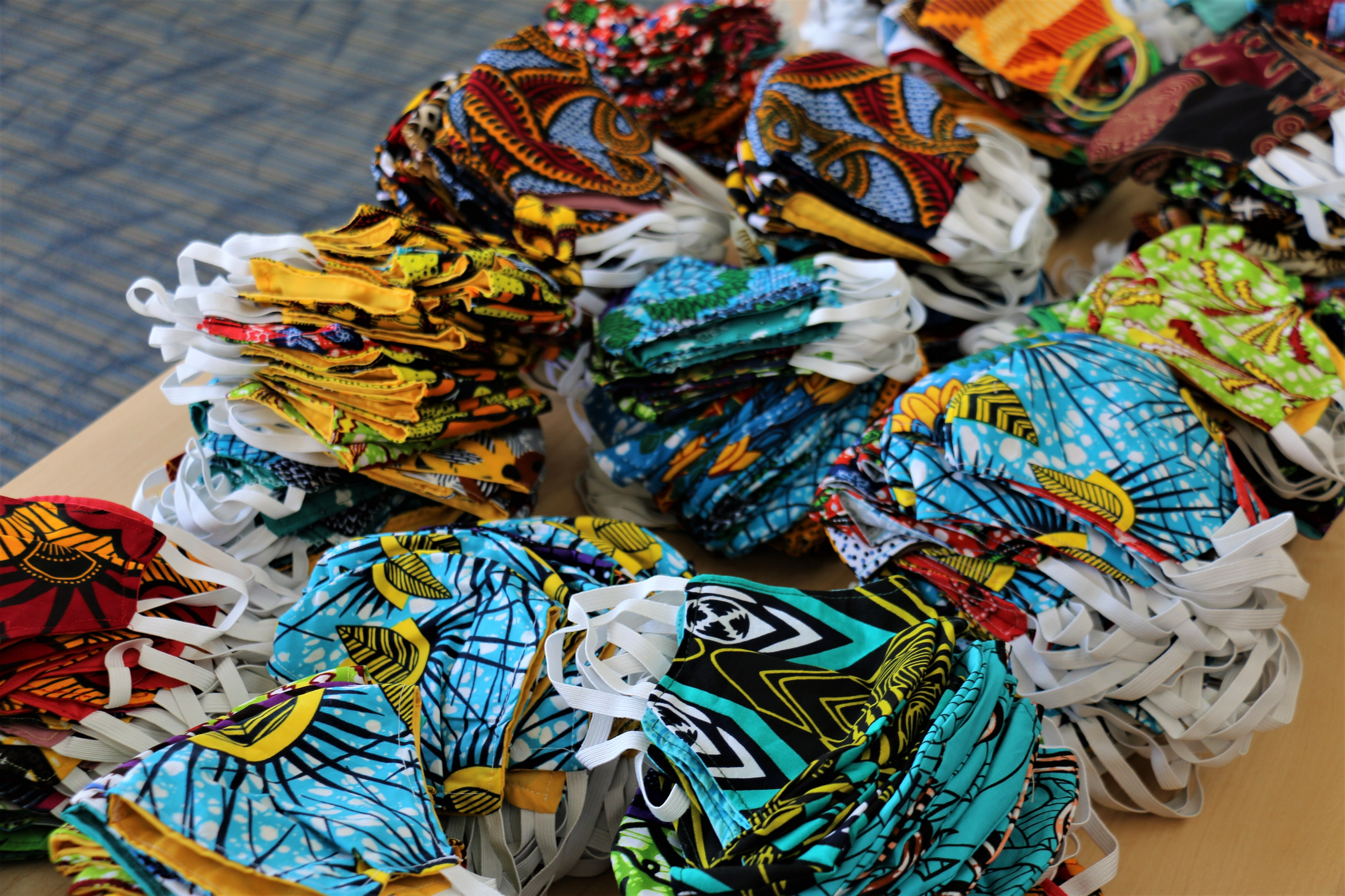 Mount Mercy University partners with local refugee group to sew masks for campus community